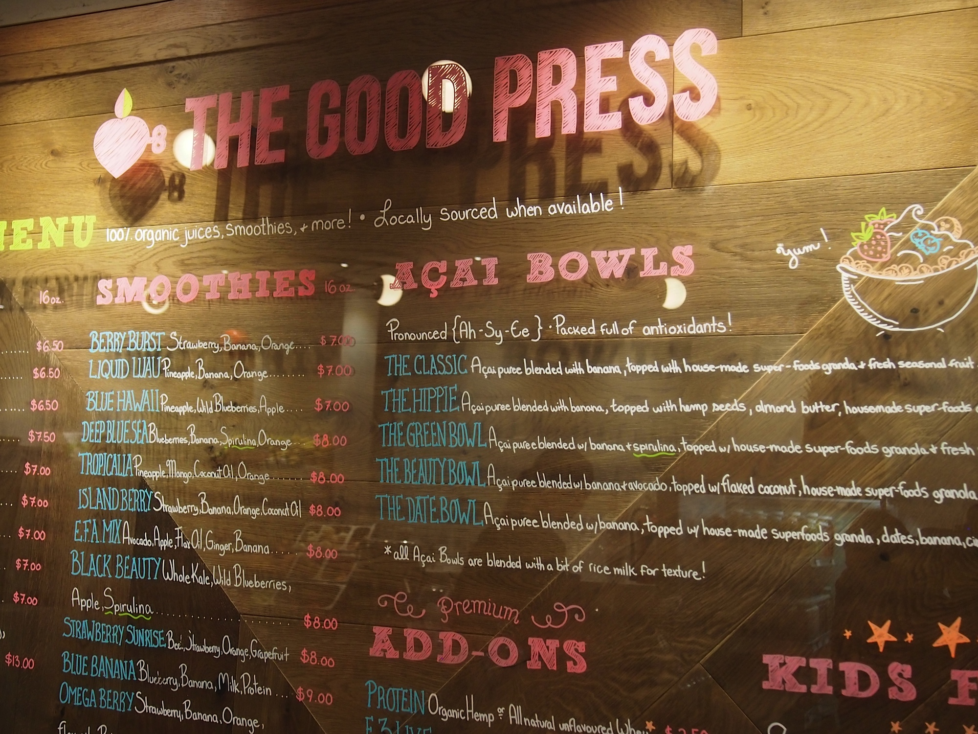 good press menu